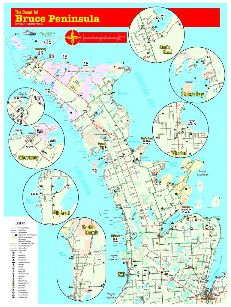 Bruce Peninsula Map